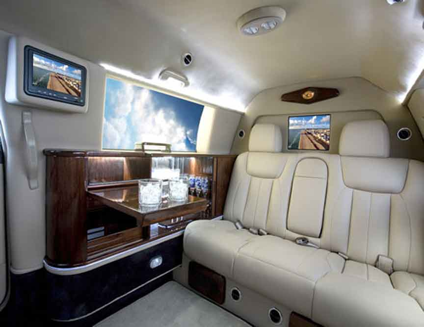 LimousinesWorld - Mobile office CEO Limos - Custom Limousines - Custom SUV - Mercedes - BMW Audi Cadillac Chrysler Porsche